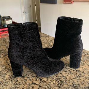 Diba Black Velvet Boots